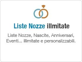 Liste Nozze online (illimitate) Moduli